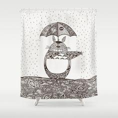 Happy Totoro Shower Curtain Miyazaki Home Textile Textiles My Neighbor Studio