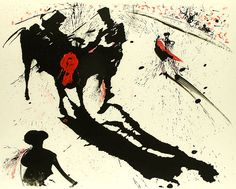 Salvador Dali, Bullfight #1