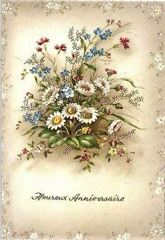Vintage Pictures, Vintage Images, Pretty Pictures, Victorian Flowers, Vintage Flowers, Vintage Ephemera, Vintage Postcards, Botanical Art, Botanical Illustration