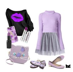 """""""Loving Lavender"""" by constance-mcnamara-romanowski on Polyvore featuring Patricia Chang, Stila, Chicwish, J.Crew, Anouki, Casetify, UNIF, Barry M and Urban Outfitters"""