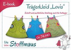 Nähanleitungen Kind - E-Book Schnittmuster Trägerkleid Lovis Gr. 74-140 - ein Designerstück von die-kleine-Stoffmaus bei DaWanda