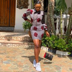 Straight Ankara Short Gown With Long Cap Sleeve African Fashion Ankara, Latest African Fashion Dresses, African Print Fashion, Africa Fashion, African Style, African Design, Latest Fashion, Ankara Short Gown Dresses, Ankara Short Gown Styles