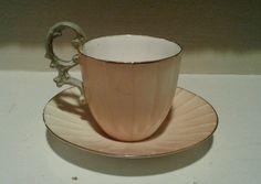 Antique Royal Worcester Porcelain Demitasse Cup & Saucer Excellent #royalworcester