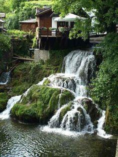 Waterfalls in Rastoke, Brajdici, Croatia