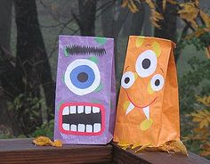 Halloween Monster Treat Bags - Crafts by Amanda