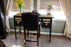 This vanity was beautiful in its day and I knew with some TLC and some of the best chalk paints on the market, I could bring it back into my life once again!