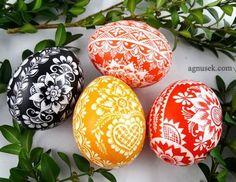 AGNUSEK - Danuta Sroka - Pisanki drapane, batikowe, wycinanki i inne Egg Decorating, Gourds, Quilling, Easter Eggs, Hand Painted, Diy, Food, Match Boxes, Bedspreads