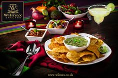 СULINARY TRAVELS WITH WILMAX. MEXICO. Crispy nachos served with guacamole sauce will leave you wanting more!  Large WILMAX platter can be nicely combined with a bowl for convenient sauce serving; and square snack dishes add a unique and stylish touch to any setting.