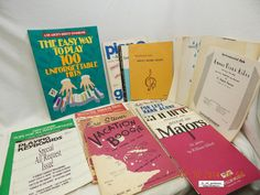 PIANO: INSTRUCTION BOOKS; SHEET MUSIC! LOT-21 PIECES! VARIOUS ERAS! USED! AS IS!