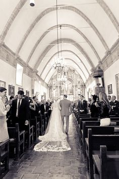A classic church ceremony in an 18th-century chapel | @allymagdaphoto | Brides.com