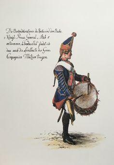 Infantry Regiment, Drummer, by Adolph Menzel Frederick The Great, Frederick William, French Revolution, American Revolution, English Restoration, War Drums, Seven Years' War, Army Uniform, Napoleonic Wars