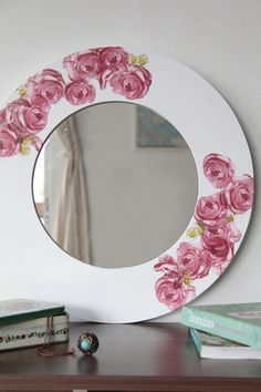 Mirror Mosaic, Mosaic Art, Mosaic Glass, Glass Art, Mirror Painting, Ceramic Painting, Painting On Wood, Decoupage Vintage, Decoupage Paper