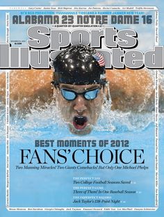 559f0714b7a December 2012 Sports Illustrated Cover  Closeup of USA Michael Phelps in  action during Men s Butterfly Final at Aquatics Centre.