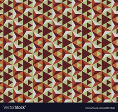 Seamless geometric pattern vector image on VectorStock