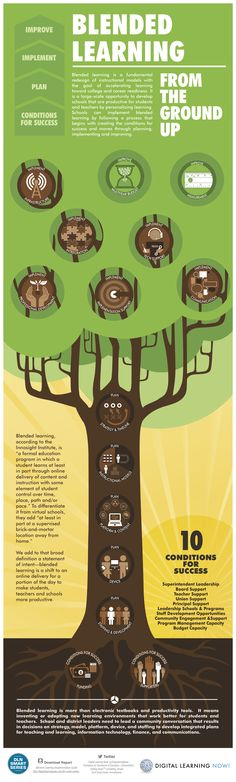 Blended Learning Tree Infographic
