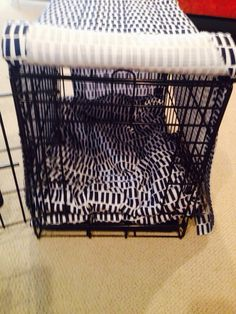 No sew DIY dog crate cover