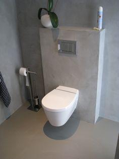 Motion Wall in badkamer, naadloos wanddesign - Motion Wall - Projecten - Motion gietvloeren