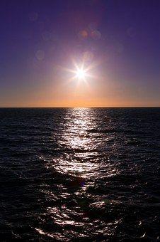 Güneş, Yansıma, Su, Ocean, Deniz