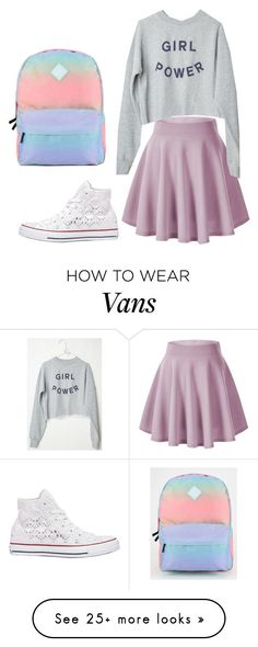 """""""outfit #9"""" by ary-polyvore-outfits on Polyvore featuring Converse, Vans, women's clothing, women's fashion, women, female, woman, misses and juniors"""