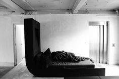 MICHELE LAMY & RICK OWENS IN THE FELT BED IN THE OFFICE AT PALAIS BOURBON [PARIS] PHOTOGRAPHED BY MONIKA BIELSKYTE FOR SOME/THINGS MAGAZINE CHAPTER004