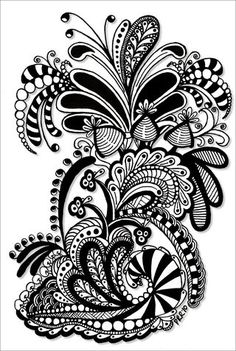 Zentangle - making art from patterns