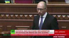 Tirar la toalla: Dimite el primer ministro de Ucrania Arseni Yatseniuk