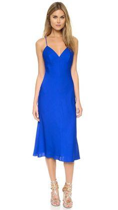 <3 the color soooooo much!!!!! Milly Silk Bias Dress