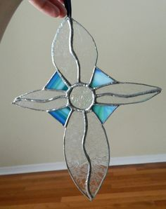 Stained Glass Cross Suncatcher by uniquenique on Etsy, $30.00 #onfireteam #lacwe #teamfest #handmade