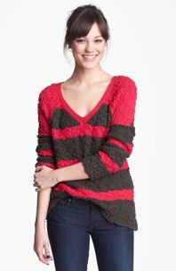 Free People 'Songbird' Stripe Pullover sz M Medium NWOT $168