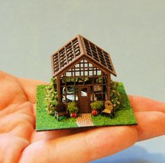 1/144th inch scale miniatureGreenhouse by sdkminiatures on Etsy, $125.00