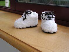 Tuto chausson bébé au tricot par Magshoes sur Etsy