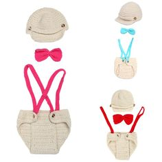 http://babyclothes.fashiongarments.biz/  BOBORA Crochet Baby Boys Casual Cap+Suspenders+Bowtie Outfit Photo Props Style Clothing, http://babyclothes.fashiongarments.biz/products/bobora-crochet-baby-boys-casual-capsuspendersbowtie-outfit-photo-props-style-clothing/, Design inspiration: Every moment of growth Each time of laugh Want to shoot for you Product Description: Material:Crochet Cotton Suitable for 0-6 months baby Hand wash and let air dry Handmade crochet knit costume Package…