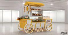 Kiosk Design, Store Design, Ice Cream Van, Wood Display, Buffets, Street Food, Popcorn, Donuts, Paradise