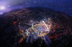 Subhanallah. Mecca from the sky.