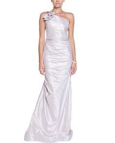 Spotted this Teri Jon by Rickie Freeman Lavender Ruched One-Shoulder Gown on Rue La La. Shop (quickly!).