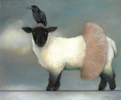 Circus Painting - ...like Lambs.. by Katherine DuBose Fuerst