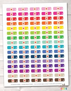 Printable Planner Stickers – Page 7 – Erin Bradley/Ink Obsession Designs Printable Planner Stickers, Printables, Bandage, Journal Pages, App Icon, Homescreen, Notes, Ink, How To Plan