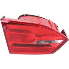 2011-2016 Volkswagen Jetta Tail Lamp LH, Inner, Assembly, Sedan - Capa