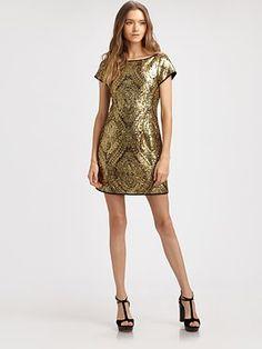 Nanette Lepore Society Sequin Sheath Dress