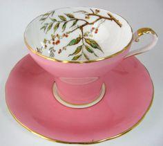 ٠•●●♥♥❤ஜ۩۞۩ஜஜ۩۞۩ஜ❤♥♥●●  Aynsley...Vintage Pink Corset-Cup and #Teacupsaucer  ٠•●●♥♥❤ஜ۩۞۩ஜஜ۩۞۩ஜ❤♥♥●●