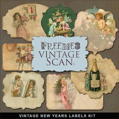 Freebies vintage Etiquetas Kit