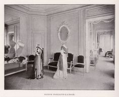 M-L salon c.1908 Photographs, Costumes, French, History, Dress, Style, Fashion, Living Room, Swag