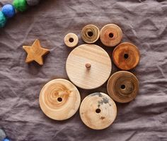 Montessori Stacking Toy Wooden Toys For Baby Wood by MamumaBird