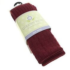Quality Burgandy Coloured Kilt Socks Made in the Scottish Borders in sizes UK 4-13 . . Sold by TartanPlusTweed.com A family owned kilt and gift shop in the Scottish Borders