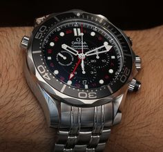 Omega Seamaster 300M Chronograph GMT Co Axial Watch Hands On   hands on