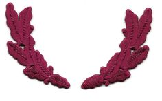 Scrambled Eggs - Burgundy - Embroidered Iron On Patch - Uniforms, Crafts, Hats #NA