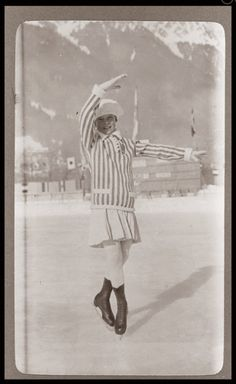 Athlete of first winter olympics 1924: Norwegian Sonja Henie finished as eight out of eight in figure skating in Chamonix, France. She was just 11 years old, but would go on to win gold in 1028, 1932 and 1936.