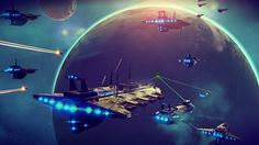 No Man's Sky is a game about exploration and survival in an infinite procedurally generated galaxy.