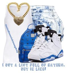"""Blue Hate!"" by mindlessnickiswag4ray ❤ liked on Polyvore featuring American Vintage and MCM"