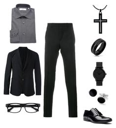 """""""Night of Elegance and Sophistication"""" by kera-kinkykera-naturals-asberry on Polyvore featuring Givenchy, Pierre Balmain, Emporio Armani, Bling Jewelry, EyeBuyDirect.com, Blue Nile, Versace, men's fashion and menswear"""